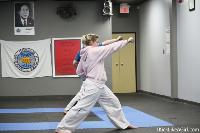 Kayla Maduk TKD Pattern Training